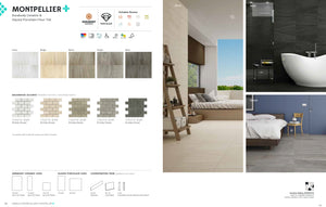 Interceramic Tile - Montpellier - Grigio - Bricklay Mosaic