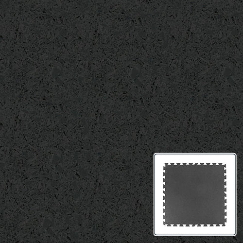 Rubber Sports Tile - Black - 36x36