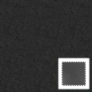 Amorim Sports Flooring - Rubber Sports Tile - Black - 36x36