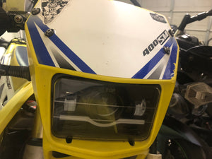 DRZ aftermarket headlight bracket