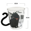 Super cute cat cups with cat tail handles