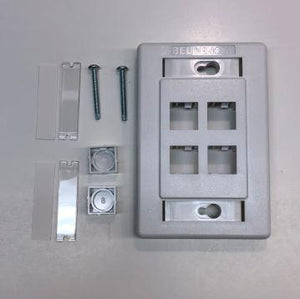 Belden AX101437 Interface MDVO 4 port wall mount faceplate white