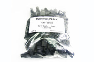 Platinum 105101 7.5mm black RJ45 strain relief boot
