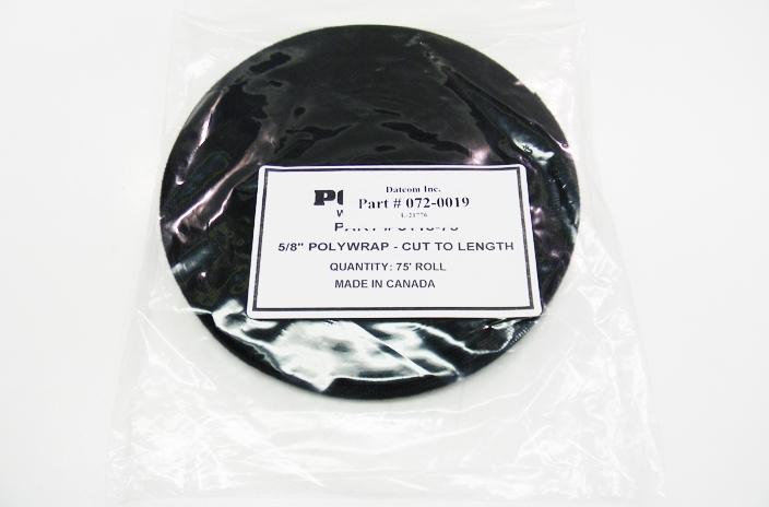 Polygon 3115-75 .625 inch black velcro wrap x 75 feet roll