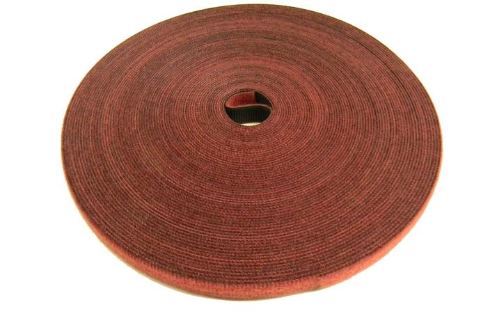 Polygon 3305-75-FR .50 inch cranberry fire rated velcro wrap x 75 feet roll