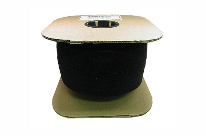 Polygon 3115-600516 .313 inch black velcro wrap x 600 feet roll