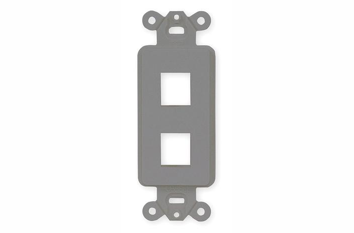 Hubbell ISF2GY 2 port keystone decorator faceplate grey
