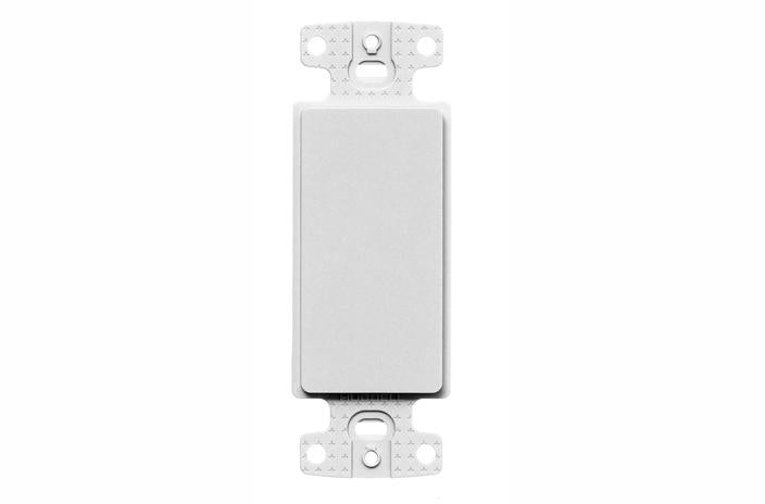 Hubbell NS620W blank decorator faceplate white