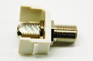 Hubbell SFFX F-type office white female to female coupler