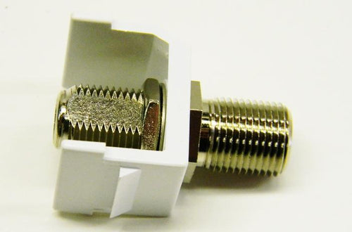Hubbell SFFWX F-type white female to female coupler