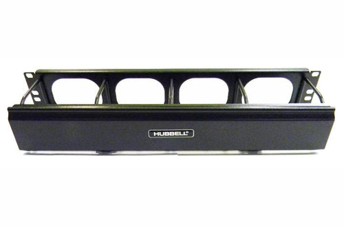 Hubbell HM24C 2U rackmount horizontal cable manager