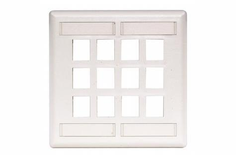 Hubbell IFP212W 12 port keystone wall mount faceplate white