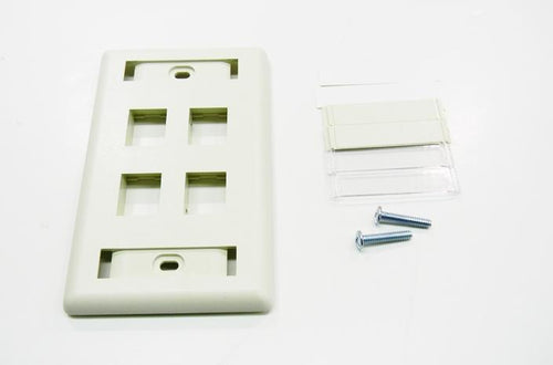 Hubbell IFP14OW 4 port keystone wall mount faceplate office white