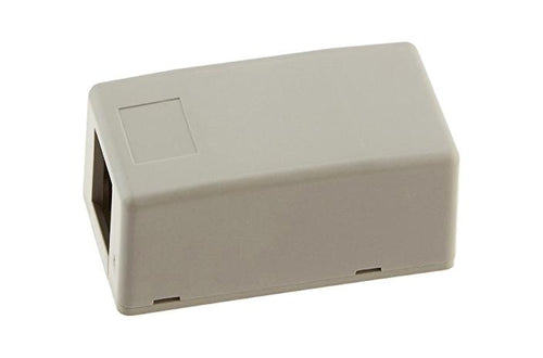 Hubbell ISB1GY 1 port keystone surface mount box grey