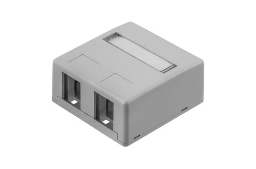 Hubbell ISB2GY 2 port keystone surface mount box grey