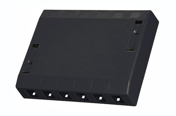 Hubbell ISB12BK 12 port keystone surface mount box black