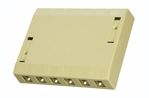 Hubbell ISB12EI 12 port keystone surface mount box electric ivory