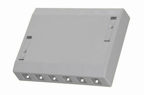Hubbell ISB12GY 12 port keystone surface mount box grey