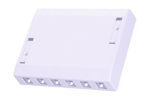 Hubbell ISB12W 12 port keystone surface mount box white