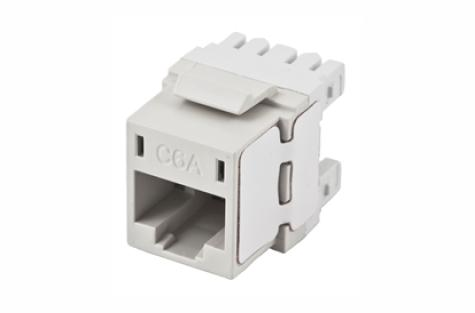 Hubbell HJ6AW RJ45 Ethernet Cat6A white keystone jack