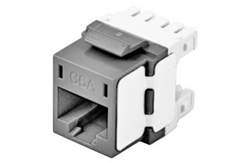 Hubbell HJ6AGY RJ45 Ethernet Cat6A grey keystone jack
