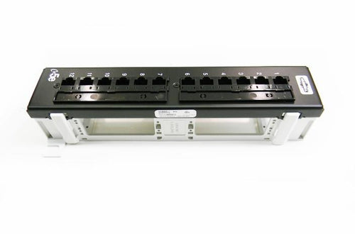 Hubbell HP5E12-P5E12U Cat5e 12-port wall mount patch panel