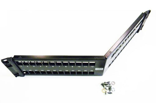 Hubbell UDXA48 unloaded 48-port angled patch panel
