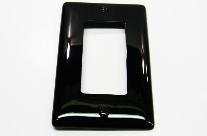 Hubbell NP26BK single gang decorator faceplate black