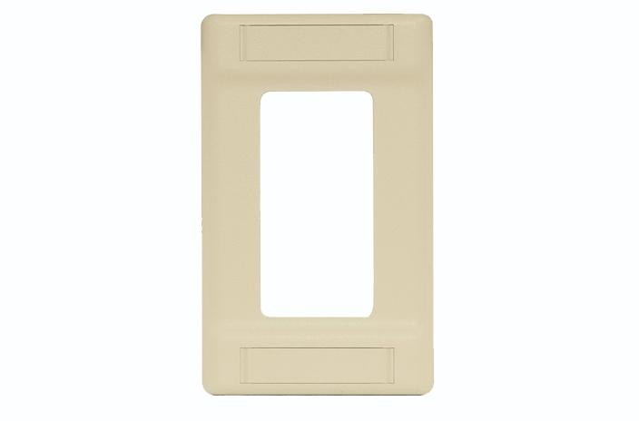 Hubbell IFP126AL single gang decorator cover plate almond