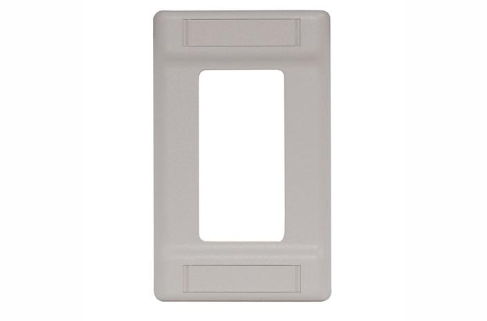 Hubbell IFP126OW single gang decorator cover plate office white