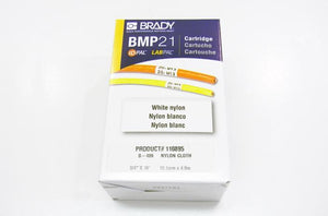 Brady M21-750-499 .750 inch black on white nylon cloth label