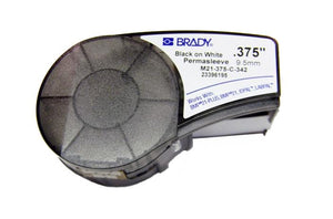 Brady M21-375-C-342 .375 inch black on white PermaSleeve label