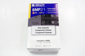 Brady M21-375-430 .375 inch black on clear component marking label