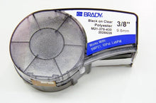 Load image into Gallery viewer, Brady M21-375-430 .375 inch black on clear component marking label