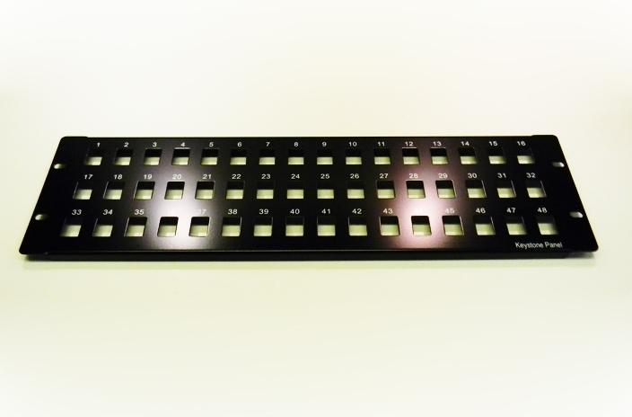 Datcom Realm unloaded 48-port patch panel