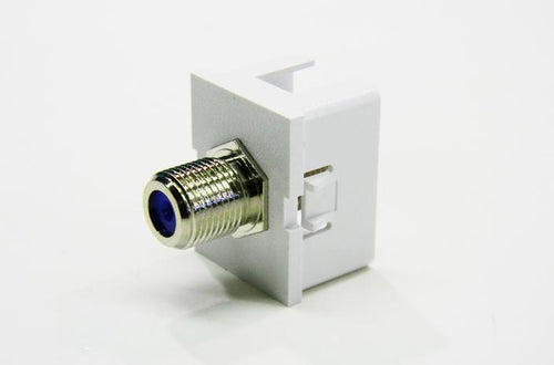 "Ortronics OR-63700006-88 cloud white ""F"" connector coupler"