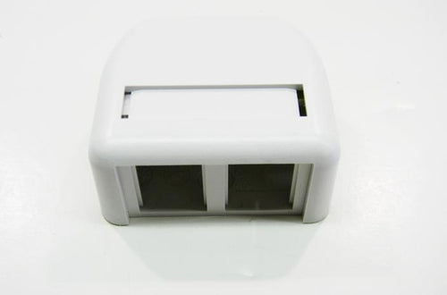 Ortronics OR-404TJ2-88 2 port TracJack surface mount box white