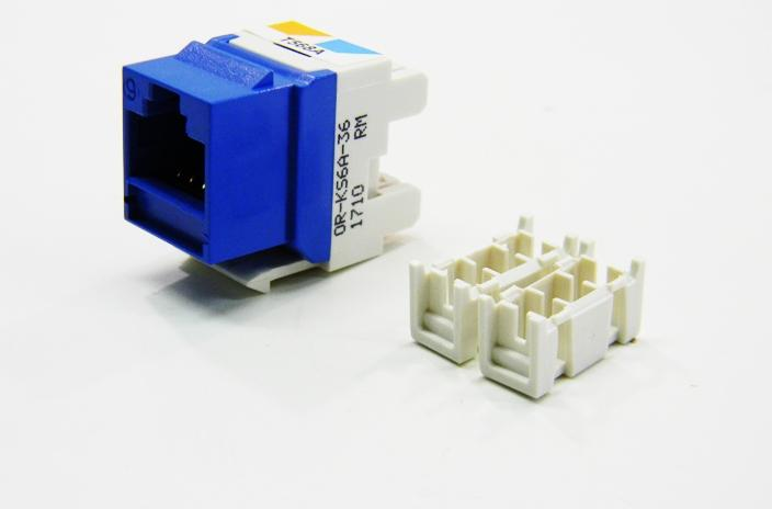 Ortronics OR-KS6A-36 RJ45 Ethernet Cat6 blue keystone jack