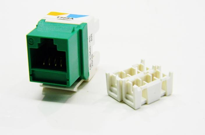 Ortronics OR-KS6A-45 RJ45 Ethernet Cat6 green keystone jack