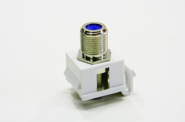 "Ortronics OR-KSFCN-88 ""F"" connector cloud white keystone coupler"