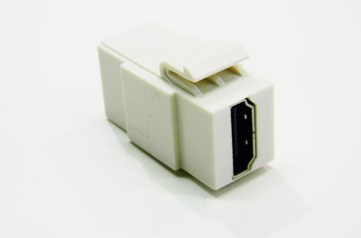 Ortronics OR-KSHDMI HDMI connector fog white keystone coupler