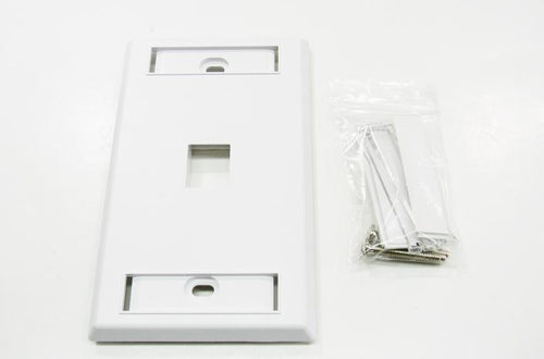 Ortronics OR-KSFP1-88 1 port keystone wall mount faceplate white