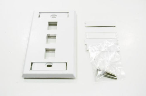 Ortronics OR-KSFP3-88 3 port keystone wall mount faceplate white