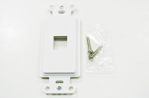 Ortronics WP3411-WH On-Q 1 port keystone decorator faceplate white