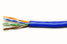 Load image into Gallery viewer, Mohawk M57546B Cat5e 4 pair UTP blue plenum ethernet cable