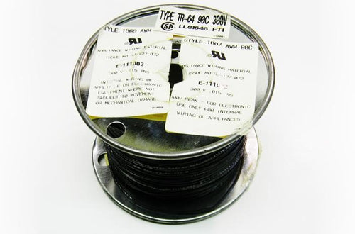 Datcom 170-2204 22 gauge stranded TR64 FT4 black hook up wire