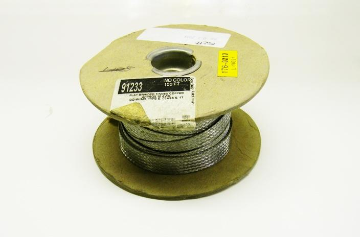 Dearborn 91233 10 gauge tinned copper braid flat circular cable