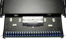 Load image into Gallery viewer, Datcom Realm 1U 24 port LC duplex fiber optic rack mount panel