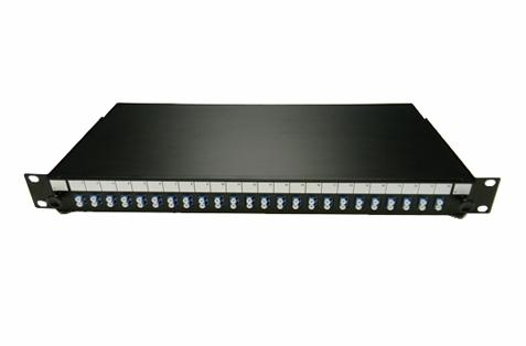 Datcom Realm 1U 24 port LC duplex fiber optic rack mount panel