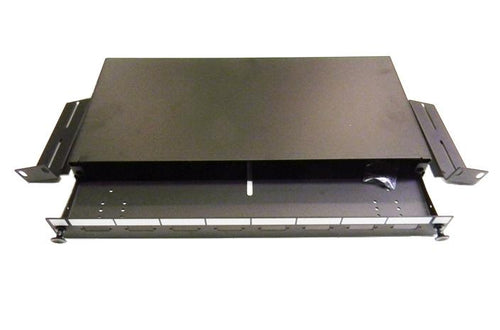 Datcom Realm 1U 8 port SC unloaded fiber optic rack mount panel